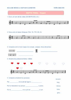 Interactive worksheet Repàs 2n