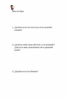 Interactive worksheet Sociedad Romana
