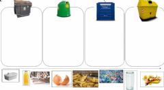 Interactive worksheet Where will you throw the rubbish?