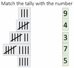 Interactive worksheet tallys and numbers