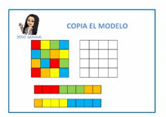 Interactive worksheet Orientación espacial: copiar el modelo