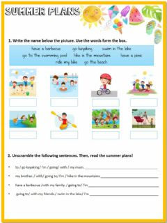 Interactive worksheet Summer pans