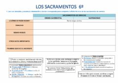 Interactive worksheet Los sacramentos 6º