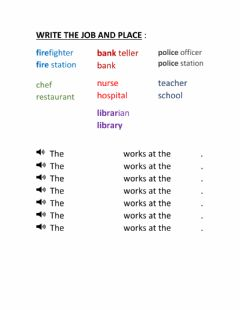 Interactive worksheet Where do they work?