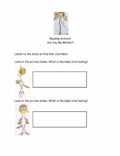 Interactive worksheet Reading Are you my mother? June 10