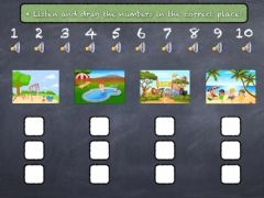 Interactive worksheet Listen and drag the numbers in the correct order