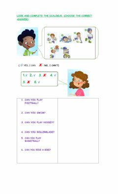 Interactive worksheet Can you...?