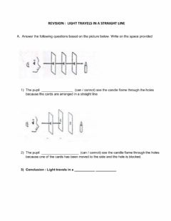 Interactive worksheet Science Year 4 - Light
