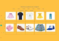 Interactive worksheet Clothes - Aec Inglês