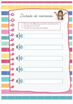 Interactive worksheet Dictado de números