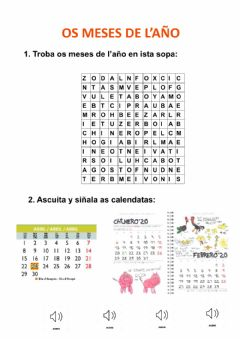 Interactive worksheet Aragonés 2: os Meses