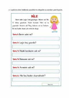 Interactive worksheet Aile