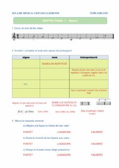 Interactive worksheet Repàs final 1