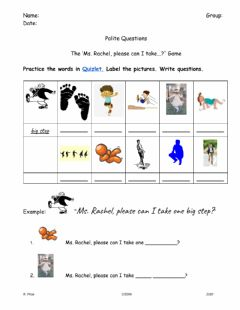 Interactive worksheet Can I Please Action Game Prep