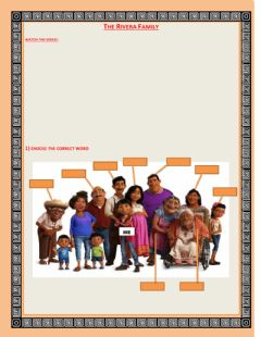 Interactive worksheet The Rivera Family