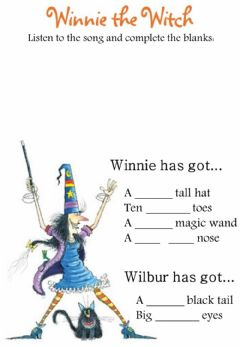 Interactive worksheet Winnie's song exercise