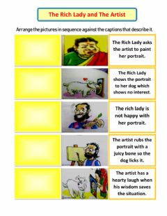 Interactive worksheet The Rich Lady and The Artist