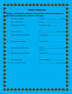 Interactive worksheet Word formation 7
