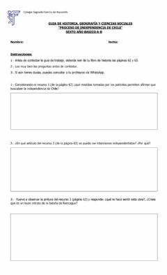 Interactive worksheet Independencia de Chile