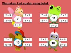 Interactive worksheet Matematik tahun 1