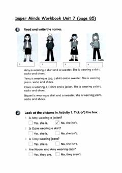 Interactive worksheet Year 2 Super Minds Workbook pg 85