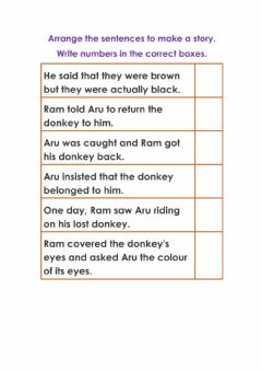 Interactive worksheet Arrange sentences in correct order