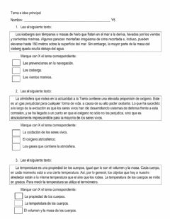 Interactive worksheet Comprensión para inferir