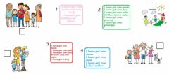 Interactive worksheet My family reading