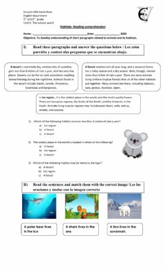 Interactive worksheet The natural world 2
