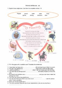 Interactive worksheet Idioms as ...as