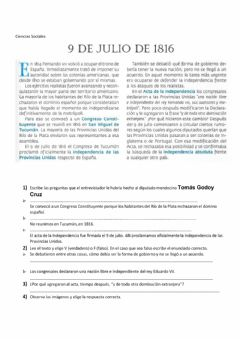 Interactive worksheet 9 de julio