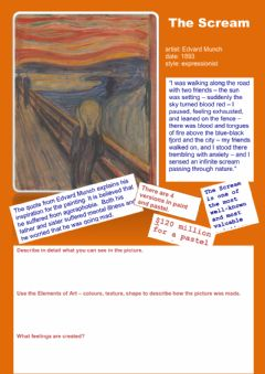 Interactive worksheet The Scream - Art analysis