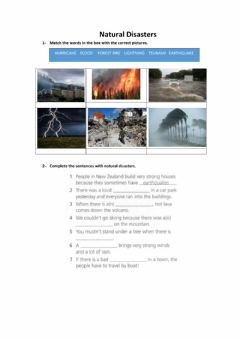 Ficha interactiva Natural Disasters