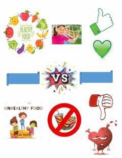 Interactive worksheet Healthy & unhealthy