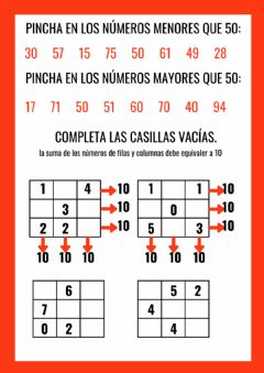 Interactive worksheet Numeración.