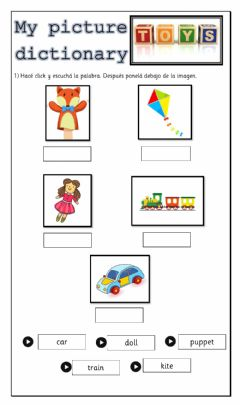 Interactive worksheet My Picture Dictionary - Toys 3 - 1st form