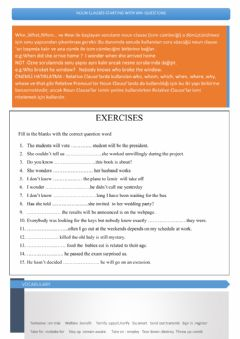 Ficha interactiva Noun clauses with wh- questions