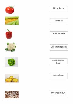 Interactive worksheet Les legumes