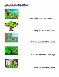 Interactive worksheet Adam And Eve
