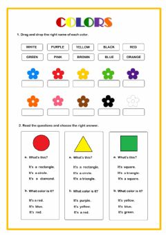 Interactive worksheet Shapes & colors