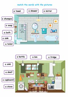Ficha interactiva Furniture words