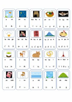 Interactive worksheet Match the Hiragana-Romaji