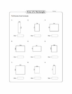 Interactive worksheet Area - Finding Area Level 1 Day 4