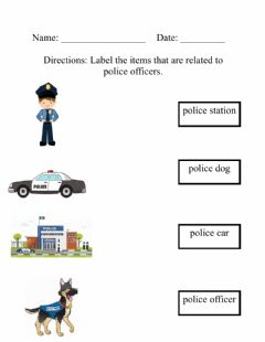 Interactive worksheet Police Officers