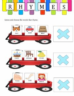 Interactive worksheet Vocabulary rhymes