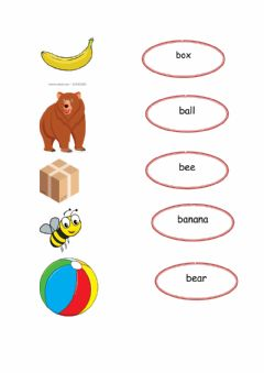 Ficha interactiva Words for letter b