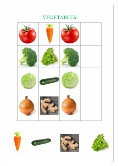 Interactive worksheet Vegetables