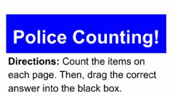Interactive worksheet Counting- Police Edition