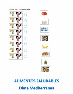 Interactive worksheet Vocabulario dieta mediterránea