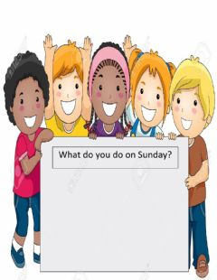 Interactive worksheet Speaking Activity (What Do you do on Sunday's)